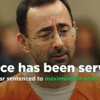 Former USA Gymnastics team doctor Larry Nassar sentenced to maximum 60 years in prison