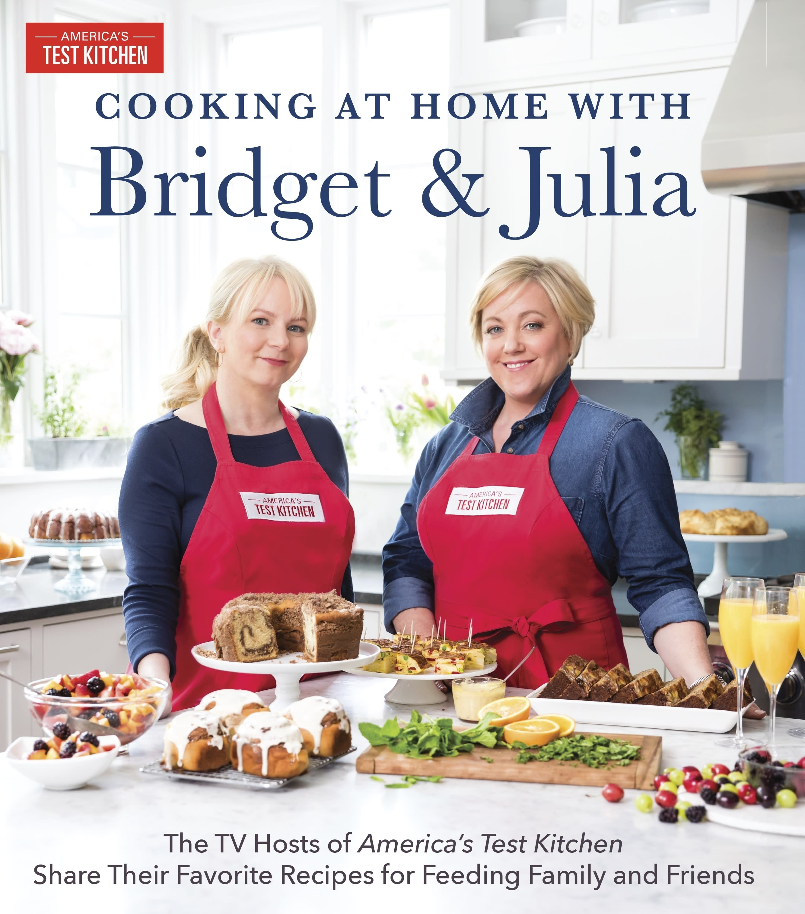 "This image provided by America's Test Kitchen in October 2018 shows the cover for the cookbook ""Cooking at Home with Bridget and Julia."" It includes a recipe for creamy cauliflower soup. (America's Test Kitchen via AP)"