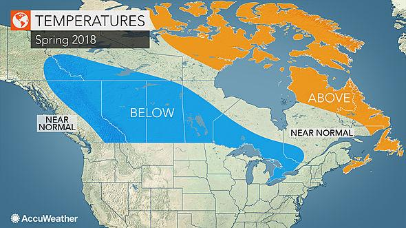 Spring forecast: Most of Canada will still be cold
