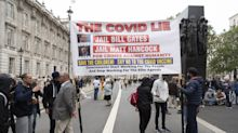 Anti-lockdown protesters gather in London