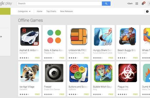 Google Play gets a section for offline games