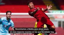 "Klopp, sobre la falta de gol de Firmino en Anfield: ""No me preocupa"""