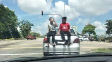 Johor exco demands parents' heads over Pasir Gudang daredevil kids stunt on moving car (VIDEO)