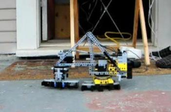 """Lego-built """"self tracker"""" train does things at its own pace"""