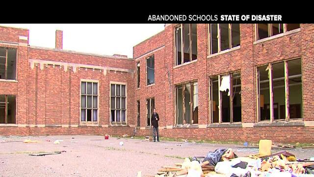 Abandoned schools - what a disgusting mess!
