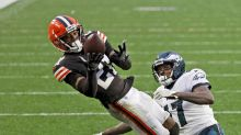 AP source: Browns CB Ward to miss time with calf injury