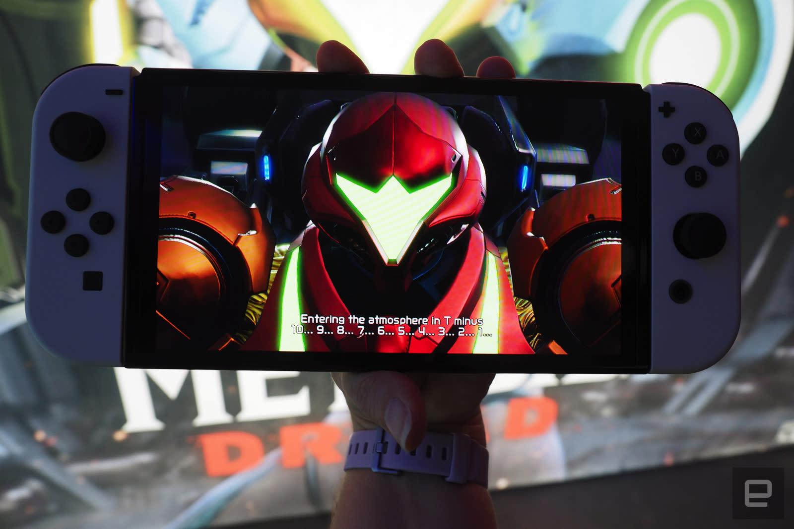 Samus Aran on Nintendo Switch OLED