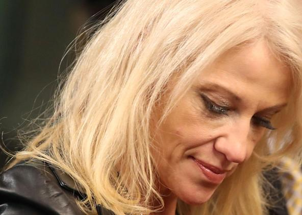 Conway is 'unclear' who retweeted a racist from her account