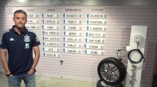 Foot - ESP - WTF : Luis Enrique annonce sa liste sur une porte de garage
