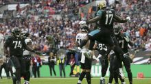 Leading 37-0, the Jaguars run a fake punt on the Ravens
