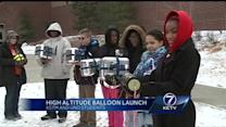 Students launch high-altitude balloon for school experiment