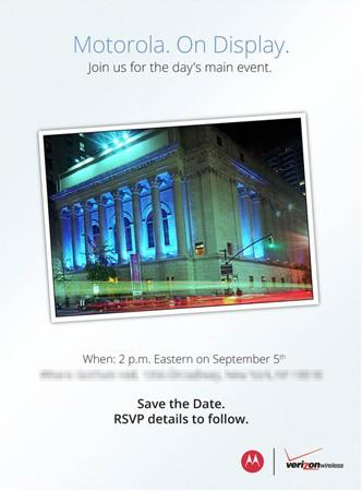 Motorola schedules press event for September 5th, dubs it the 'day's main event'