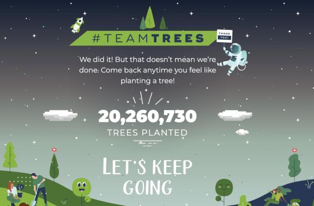 YouTubers have raised $20 million to plant 20 million trees
