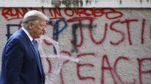 Ante las protestas, Trump habla de guerra... y reelección