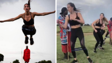 Celebrity fitness group under fire for using Kenyan tribesmen as 'props'