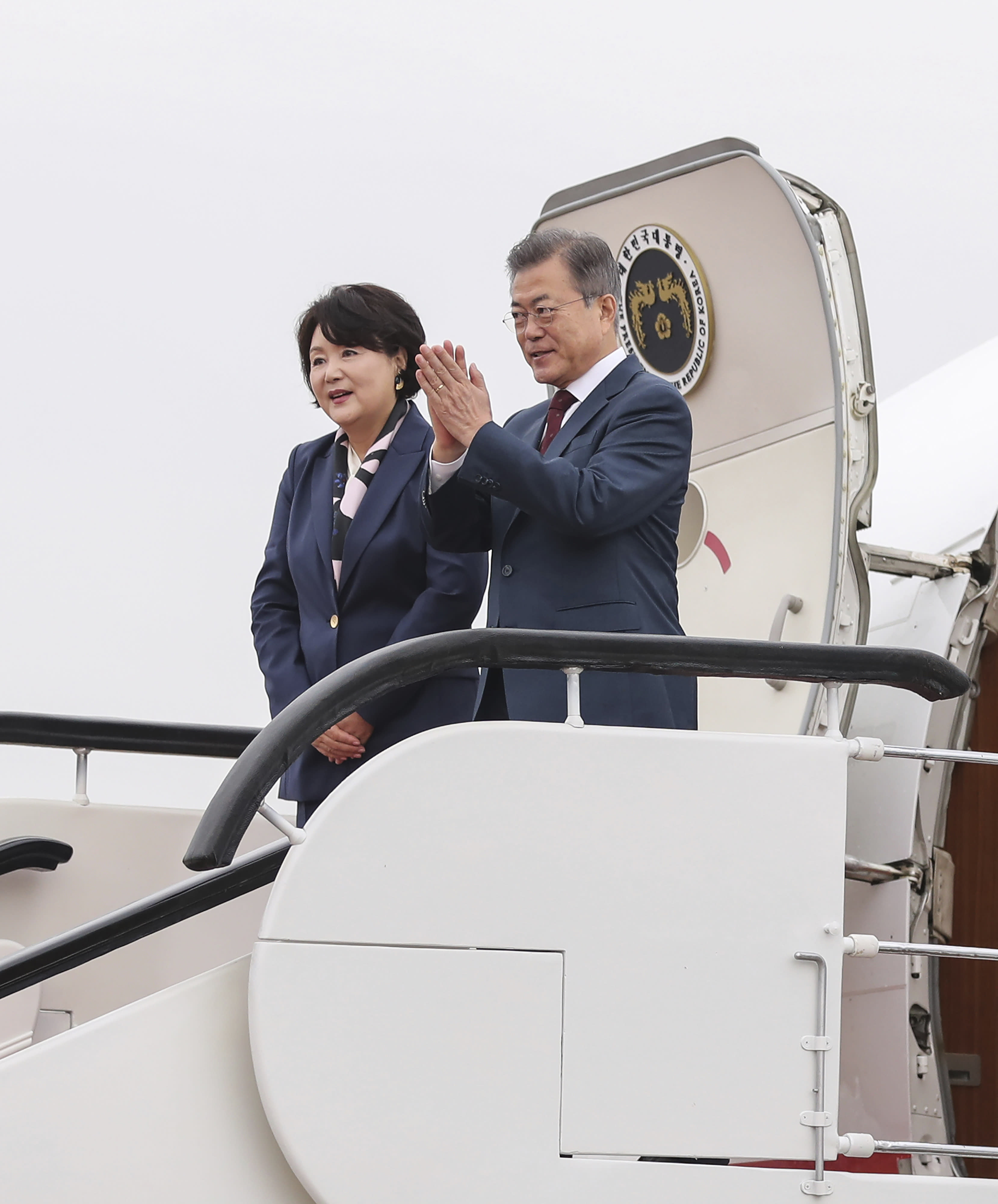 The Latest: Moon returns home after North Korea trip