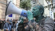 Ukraine anti-corruption activist attacked with green liquid
