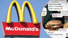Burger King responds to McDonald's customers in cheeky campaign