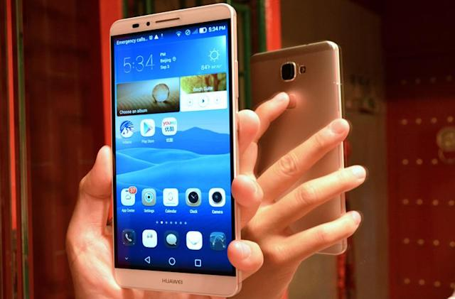Huawei's new phablet gets an iPhone 5s-like fingerprint reader