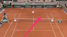 Novak Djokovic applauded his opponent after he hit a stunning cross-court tweener at the French Open