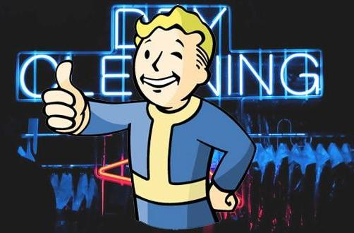 Fallout's Vault Boy does your dry cleaning, apparently