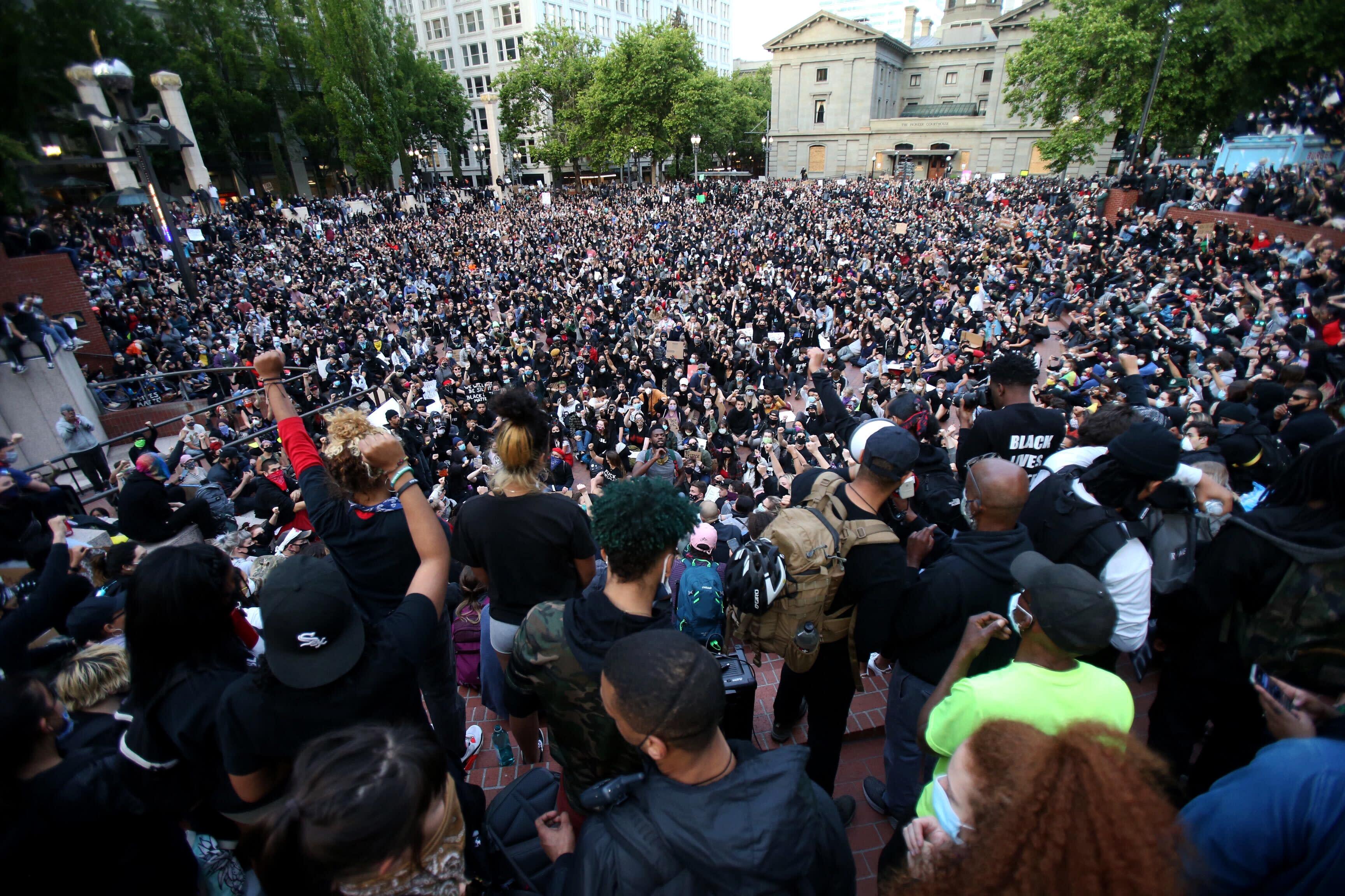 America Protests Oregon