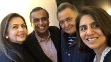 Rishi Kapoor Thanks Mukesh & Nita Ambani for Visiting Him In NY