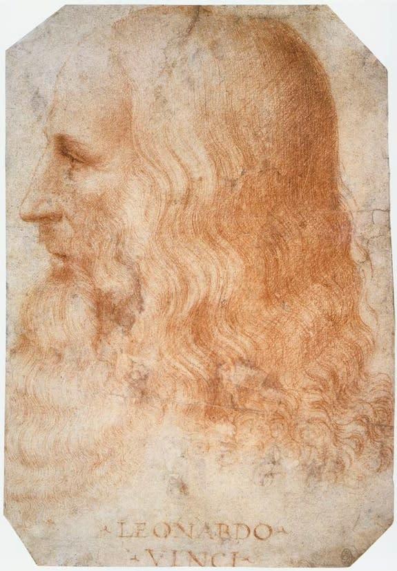 A portrait of Leonardo da Vinci created by Francesco Melzi during Leonardo's lifetime.