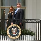 Melania and Donald Trump Briefly Looked at the Solar Eclipse Without Glasses