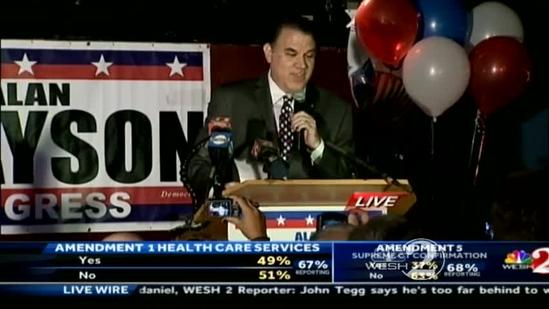 Alan Grayson speaks about congressional 'comeback'