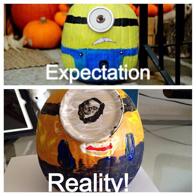 """<p>Even painting pumpkins can be trickier than it seems. (Photo: <a href=""""http://pinterestfail.com/2013/10/31/fail-minion-pumpkin/"""" rel=""""nofollow noopener"""" target=""""_blank"""" data-ylk=""""slk:Pinterest Fail"""" class=""""link rapid-noclick-resp"""">Pinterest Fail</a>)</p>"""