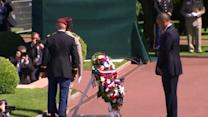 Obama pays tribute to veterans in Normandy