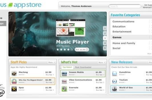 ASUS launches netbook App Store eying a MeeGo future