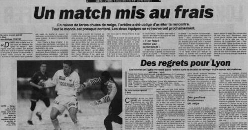 Foot - L1 - Metz -Lyon : avant les pétards, la souffleuse