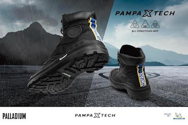 把米其林輪胎穿在腳底!Palladium聯手Michelin打造全新靴款、結合橘標防水完勝全天候