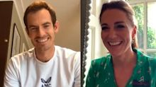 Duchess of Cambridge surprises schoolchildren in call with Wimbledon champion Andy Murray