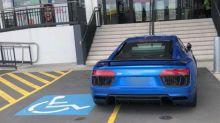'Privileged t***': Audi driver slammed for careless disabled park