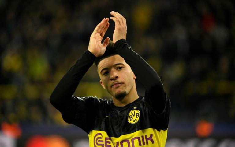Dortmund midfielder Jadon Sancho has been strongly linked with a move to Manchester United (AFP Photo/Ina Fassbender)