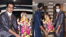 Sonu Sood Ganesh Visarjan with Family