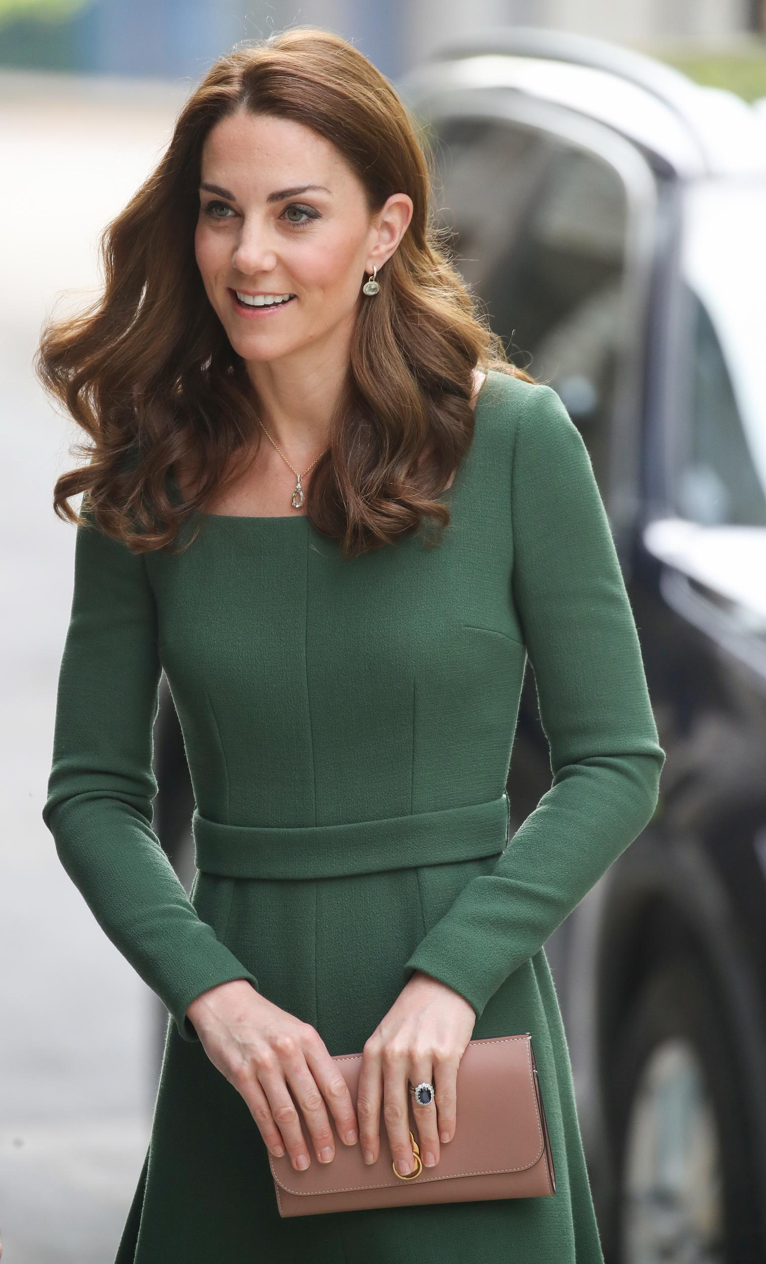 LONDON, ENGLAND - MAY 01: Catherine, Duchess of Cambridge arrives to officially open the new Centre of Excellence at Anna Freud Centre on May 01, 2019 in London, England. The Duchess of Cambridge is Patron of the Anna Freud National Centre for Children and Families.  (Photo by Chris Jackson/Getty Images)
