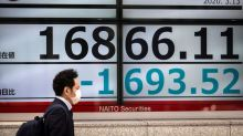 Asian stocks fall on concerns about fresh lockdowns, banking sector
