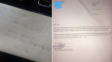Boy receives touching response to letter sent to dad in heaven