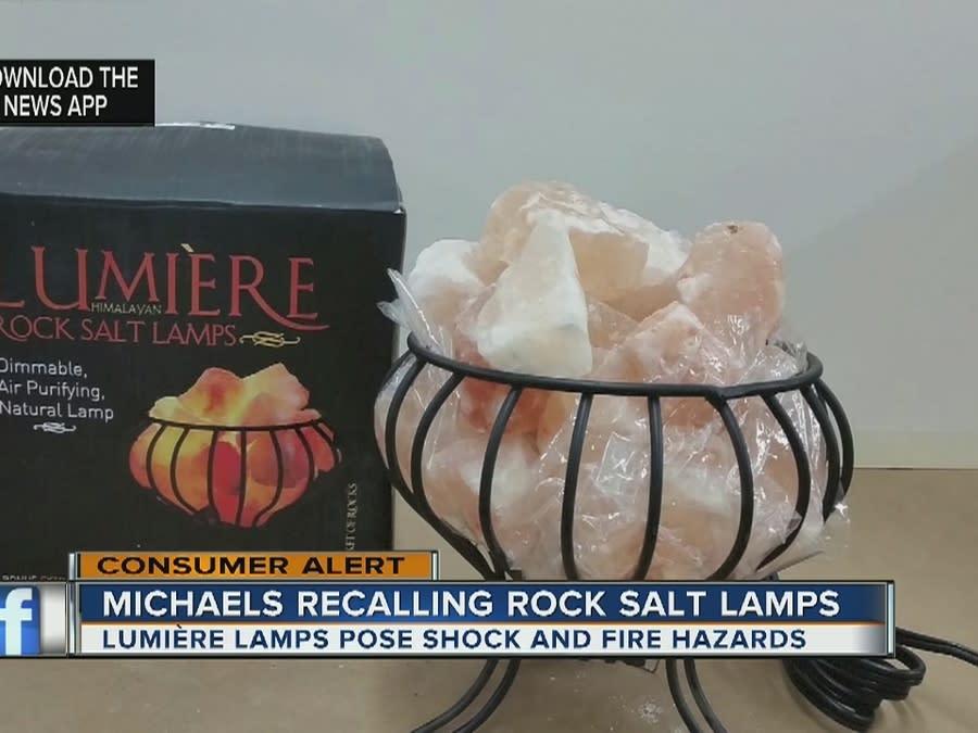 Michaels Recalls Rock Salt Lamps Due to Shock and Fire Hazards [Video]