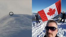 Mysterious flag appears on Whitehorse mountain, social media cracks the case