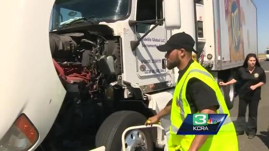 Big rigs inspected for pollution in Sacramento