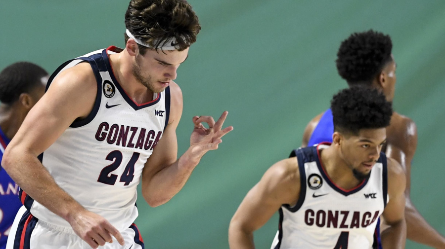 No. 1 Zags take a bite out of No. 6 Jayhawks