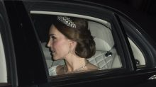 Kate Middleton dazzles in heavy diamond and pearl tiara Princess Diana also wore