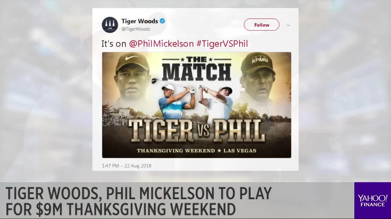 Tiger Woods, Phil Mickelson to play for $9M Thanksgiving Weekend [Video]