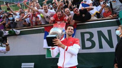 Roland-Garros (H) - Portfolio - La finale de Roland-Garros entre Novak Djokovic et Stefanos Tsitsipas en images