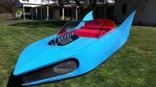 What led me to buy the gigantic blue Batmobile from the 1991 AFL grand final